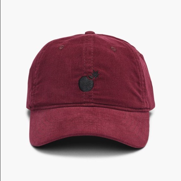 575f118f The Hundreds maroon black bomb dad hat with tags NWT